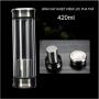 Bình giữ nhiệt kèm bộ lọc pha trà bằng thủy tinh 2 lớp 2 đầu inox cao cấp - 420ml